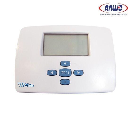 Termostato Blanco Programable MILUX - Watts